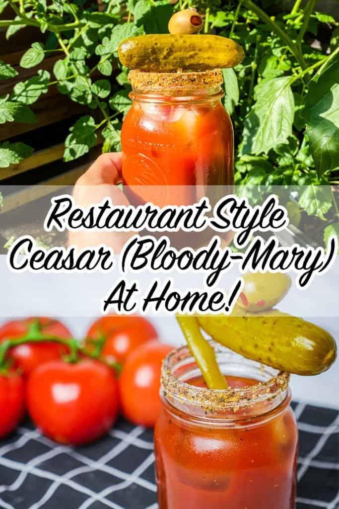 Restaurant Style Vegan Ceasar (Blood Mary) Recipe