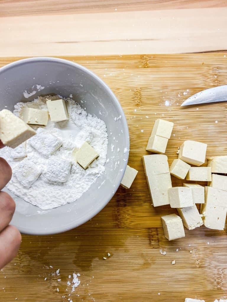 tapioca starch on tofu