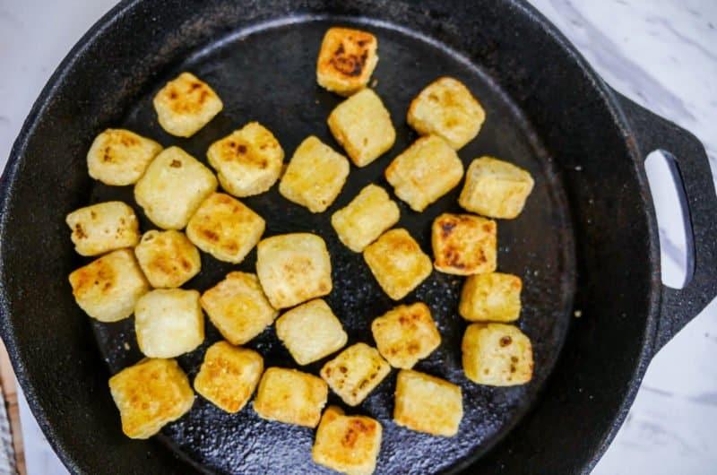 Easy peezy crispy tofu (y)